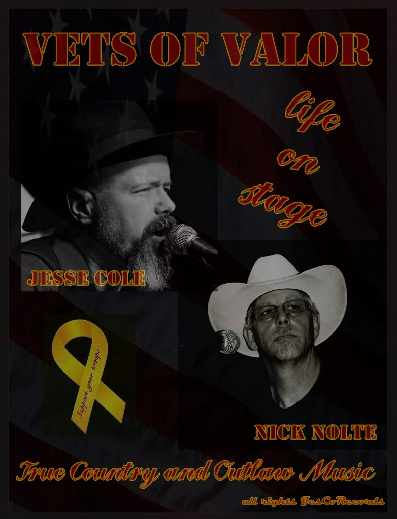 Jesse Cole, Singer, Songwriter, Berlin, Country, Outlaw Music Bewegung, Johnny Cash, Songs, Country-Songs,Amerikaner Nick Nolte, Vets of Valor, Musikkneipe Chattahoochee, Hamburg, Texas, Veranstaltungstipp, Konzert